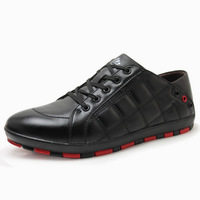 2012 fashion casual shoes men male genuine leather