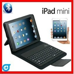Wholesales Black Bracket Stand Bluetooth Keyboard Case For ipad Mini 7.85'' 10pcs/lot(China (Mainland))