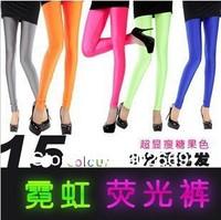 2307  New arrival women's Leggings Fluorescence pants elastic  tight Ninth pants 5pcs/lot  free shipping