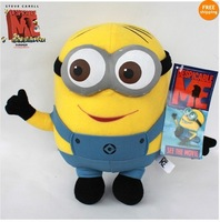 Despicable Me Minion 3D Eye Plush Toy Stuffed Animal Doll 22CM Dave Teddy hot!!