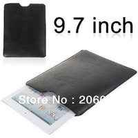 Simple Faux Leather Pouch Case for 9.7 inch Tablet PC - Black