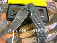 Buck DA19 Hunting Pocket Gift Knife Folding Knives 3Cr13 Plating Titanium Blade Aluminium + carbon fiber Handle 5pcs/lot
