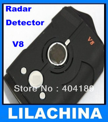 New! Factory price Car Radar detector support English and Russian language 360 V8 free shipping(China (Mainland))