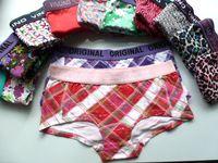 Cheap Women's low-waist 100% cotton boxer panties plus size panties underwear boxer