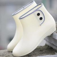 Candy color boots rain boots transparent rainboots women's water shoes overstrung female rain shoes rubber shoes