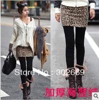 2793 women's pantskirts Leggings and skirt  leopard skirt thicken warm elastic  tight pantskirt 5pcs/lot  free shipping
