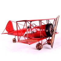 Creative restore ancient ways alloy art screw pulp sheet combat aircrafts model Free Shipping red/yellow