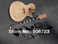 2012 Unfinished Electric Guitar Kit With Flamed Maple Top DIY guitar For Epi Custom Shop Style