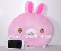 Free Shipping animal Shape Music Pillow Speaker pillow  for mp3/mp4/mobile phone-rabbit