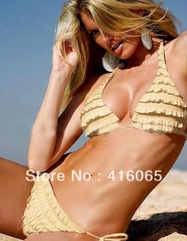 2 PCS  Sexy Women & Girl Swimwear Fashion Swimsuit Bikini Set Fashion Swimmer  One Size Swimming  triangle bikini swimwear