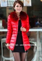 Wholesale women's Down Jacket&parkas,racoon fur collar winter long coats,Fashion warm female shitsuke Coat,free shipping