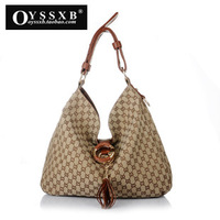 2013 fashion style designer brand bags ladies genuine pu leather shoulder bag with large capacity (TFHB-009)