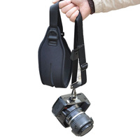 Black Quick Pro Single Shoulder Ergo Strap for DLSR SLR Camera