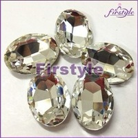 OVAL fancy stone crystal clear color,sizes option:4x6mm,6x8mm,8x10mm,16x22mm TO 30x38mm oval glass crystal beads