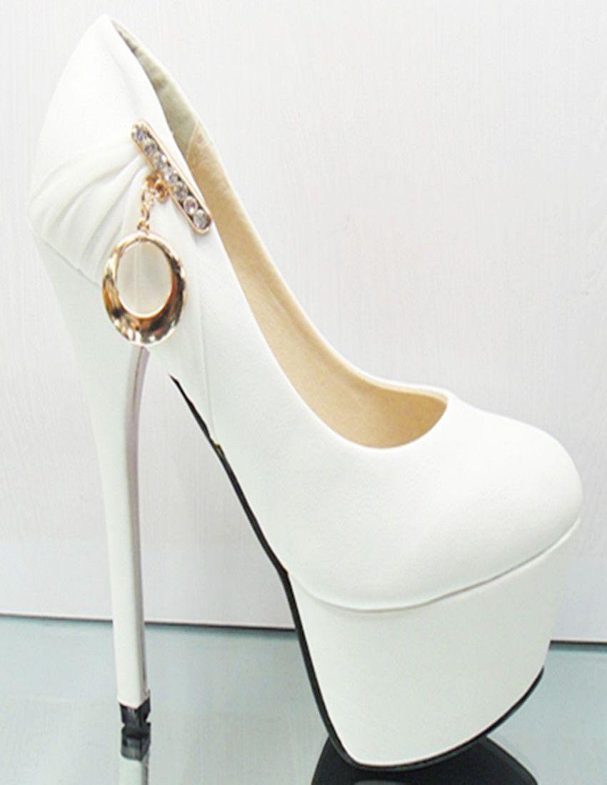 White Wedding Shoes Gold Bridal Shoes Black Ultra High Heels Platform Quotes