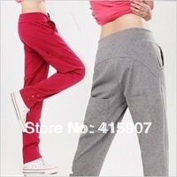 Free shipping!2012 autumn 100% cotton sports pants three color five size