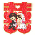 Clusters xi wedding supplies/marriage room decoration/sitting room xi/wall stick/door xi/cartoon wedding XiZi sticker(China (Mainland))