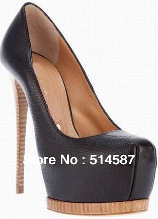 sexy 16cm sheepskin leather good quality cheap high heels(China (Mainland))