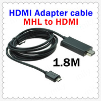 New Micro USB MHL to1080p HDMI Cable Adapter For Samsung Galaxy S2 S II 1.8M Long Black DA0117