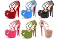 The new fashion high-heeled shoes red shoes sexy female sandals wedding shoe dinner shoes(China (Mainland))