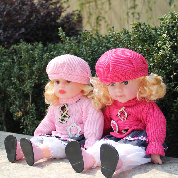 Free Shiping New 40CM lovely Baby Doll with Accessories The best Gift for Kids/ Friends/S. Valentine Day(China (Mainland))