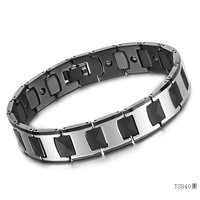 Accessories jewelry fashion tungsten bars and rods magnetic health tungsten steel male bracelet ws940 black