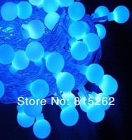 1pcs 10m 80LED bead BLUE lamp for Cafe\hotel\shops\department stores\streets\house roof free shipping,Wholesale and retail
