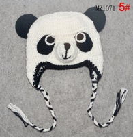 RETAIL 100% handmade animal crochet hat panda baby knitted hat free shipping
