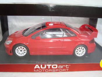 Autoart 1:18 Peugeot 307 WRC 2005 alloy car model Red - New year gift