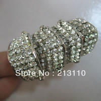 Min order is $10 (mix order) Fashion vintage/retro punk finger crystal ring jewelry for women free shipping