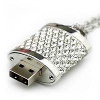 Crystal Lock Pendant 100% Real  4GB 8GB 16GB 32GB USB 2.0 Memory Stick Flash Drive IS00073