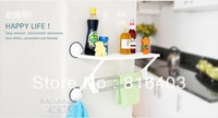 Free shipping Suction cup Shower towel Shelves towel rail towel rack shower caddy suction shower rack 2 bars stainless steel