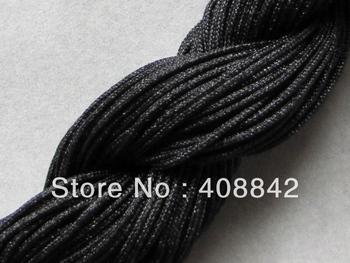 FREE SHIPPING 1mm 5roll 140m/153yds Black Chinese Knot Cord Chinlon Nylon Rope Polyamide Yarn CD7 Taiwan DIY Jewelry Findings