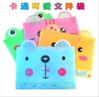 Fashion cartoon lovely animals thread gluing A4 folder/material bag/pocket file packet