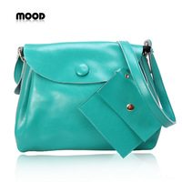 2012 mood genuine leather brand women's handbag genuine leather bag cowhide shoulder bag messenger bag big bags