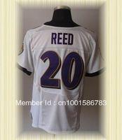 Arrived New Baltimore Football Jerseys 20 Ed Reed Purple white black Elite Jerseys