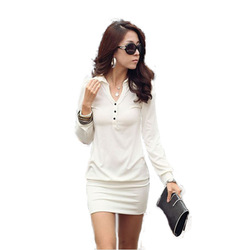 Korean Style High Street Fall Clothing Women Cute Lace Slim Long Sleeve Knit Sweater Dresses Free Shipping(China (Mainland))