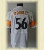 Arrived New Pittsburgh Football Jerseys 56 LaMarr Woodley White Elite Jerseys