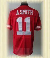 Arrived New San Francisco Football Jerseys 11 Alex Smith Red white Elite Jerseys