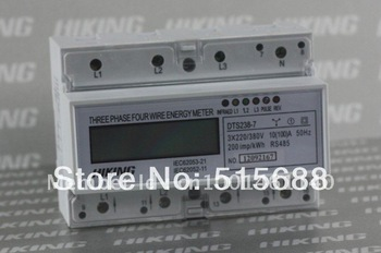 DTS238-7 100A  three phase four wire din rail type RS485 energy meter