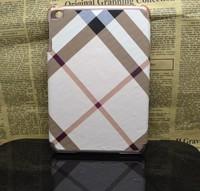 20pcs/lot Luxury Check Pattern Plaid Stripes for ipad mini
