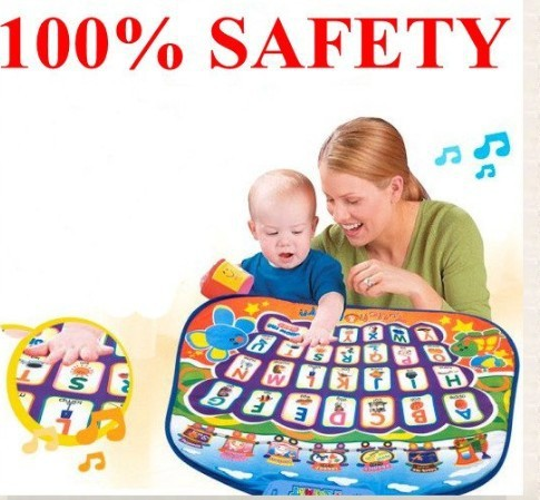 Christmas gift 100% Safety Baby Musical ABC English Learning Playmat Educational Teaching Toy(China (Mainland))