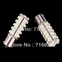 2X1156 BA15S 68 SMD 3528 LED Tail Brake Light Bulb 12V White