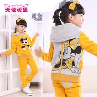 Free shipping Hoodies Pants Smart Children Wear Best Kids Sports Set 2013 Winter Popular Items for Girls brand guarantee quality