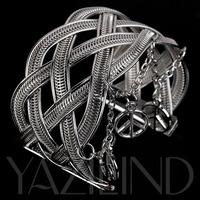 Ювелирное изделие Attention! Yazilind Bangle New Fashion High Quality Charming Golden Cuff Bracelet Cuff Arm Bangle Fashion Jewelry Hot sale