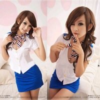 Minimum order $30 mixed stewardess uniform role plays sexy pictorial photography clothing temptation suit 7075