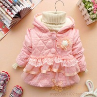 Winter mg small hat lamb's liner female child baby cotton top cotton-padded jacket children outerwear