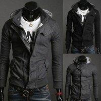 HOT 2014 New Fashion Men's Boy Slim Fit Hooded Sweatshirt Male Jacket/Coat/Sweatshirt/Top/Hoody Mens hoodies blouse