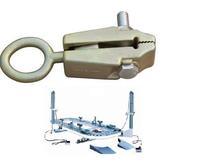 Pulling tools big clamps of car totisserie to repair car body