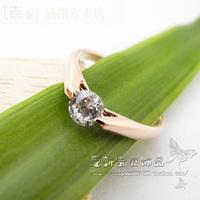 Fashion accessories ITALINA gold crystal fangzuan fashion female ring ol